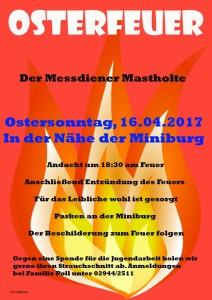 Einladung zum Osterfeuer der MD 2017